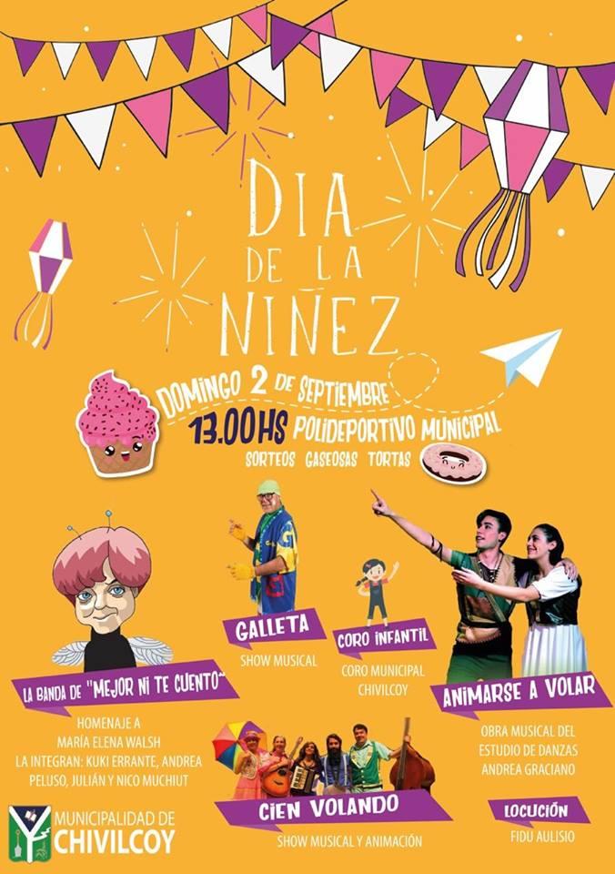"""[Este domingo] En el Polideportivo: El Municipio llevará a cabo el festejo del """"Día de la Niñez"""""""