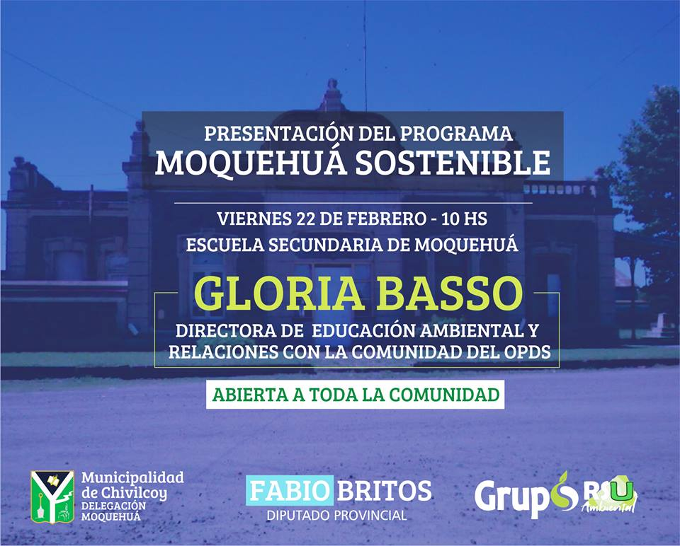 """[Medio Ambiente] Presentación del programa """"MOQUEHUÁ SOSTENIBLE"""" y charla sobre reciclado de la basura"""