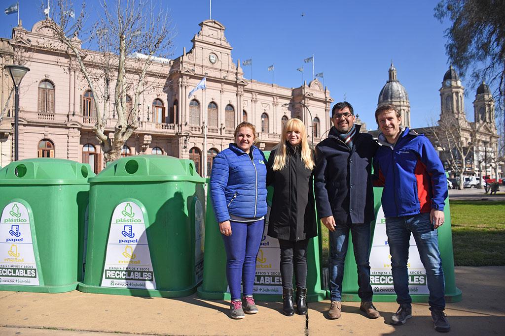 [Cuidado del Medio Ambiente] Se distribuirán campanas de reciclado en distintos puntos del centro de la ciudad de Chivilcoy