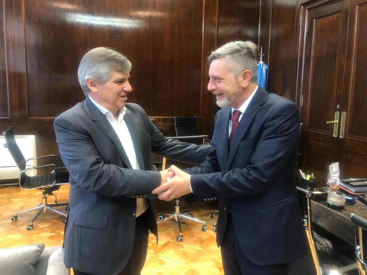[Desarrollo E Industria] El intendente Britos fue recibido por el Ministro Ariel Schale