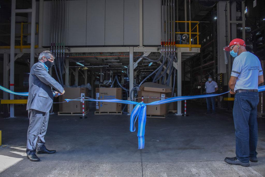 El intendente Britos presente en la inauguración de maquinaria nueva en Amcor Flexibles Chivilcoy
