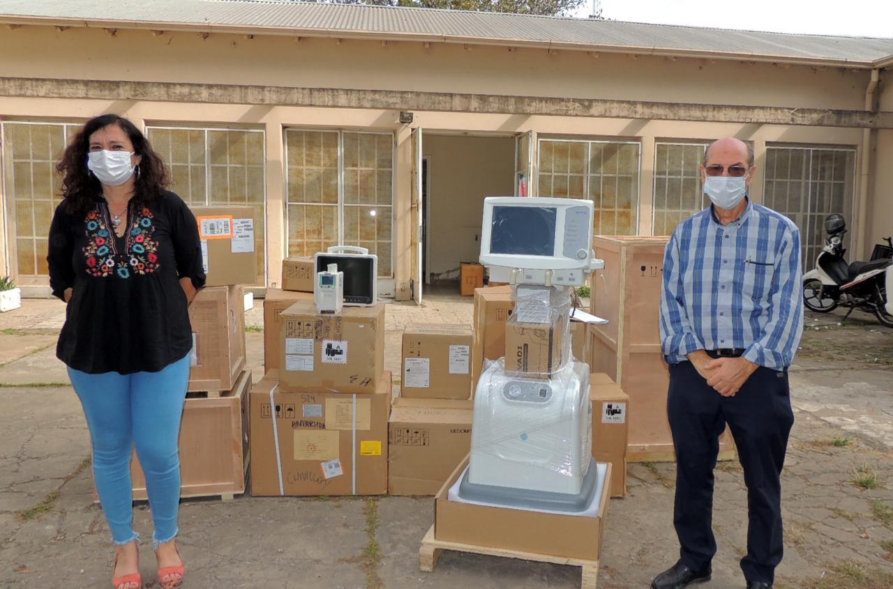 Se efectivizó la entrega de cuatro respiradores al Hospital de Chivilcoy