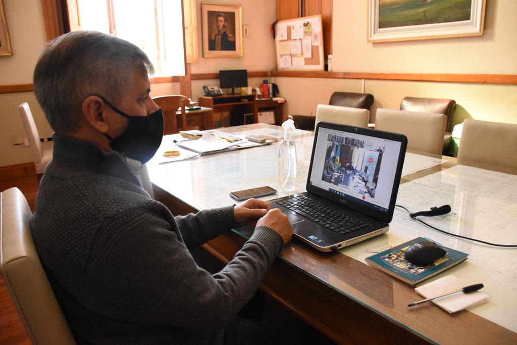 Britos participó de la videoconferencia encabezada por el gobernador sobre la situación epidemiológica actual de los municipios