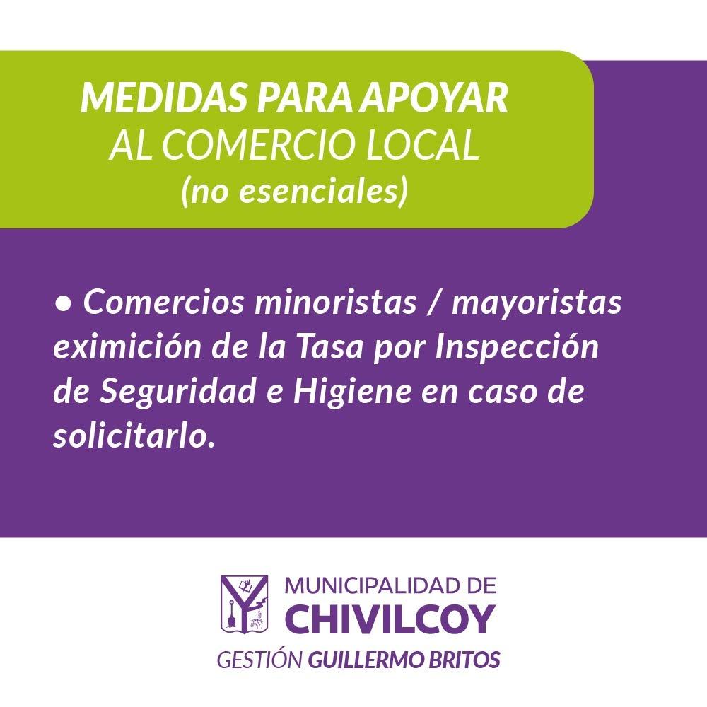 Continúan las medidas del acta acuerdo 2020 para apoyar al comercio local no esencial