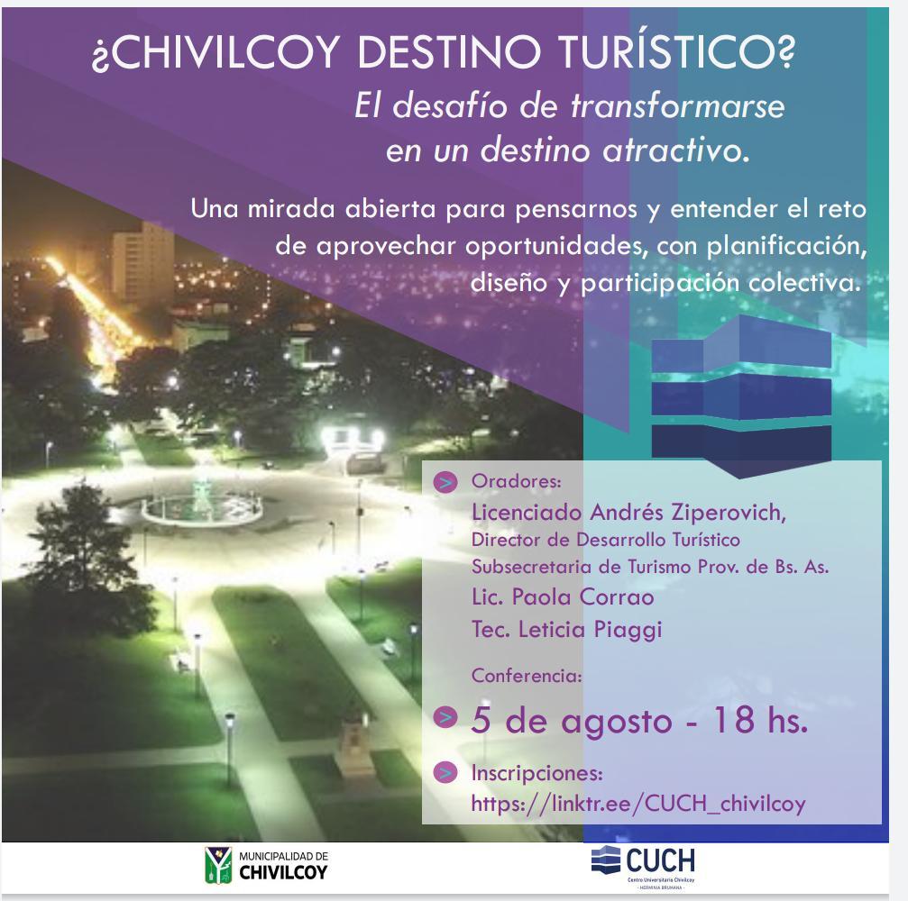 [Cuch a Domicilio] Nueva conferencia y curso gratuito: ¿Chivilcoy destino turístico?