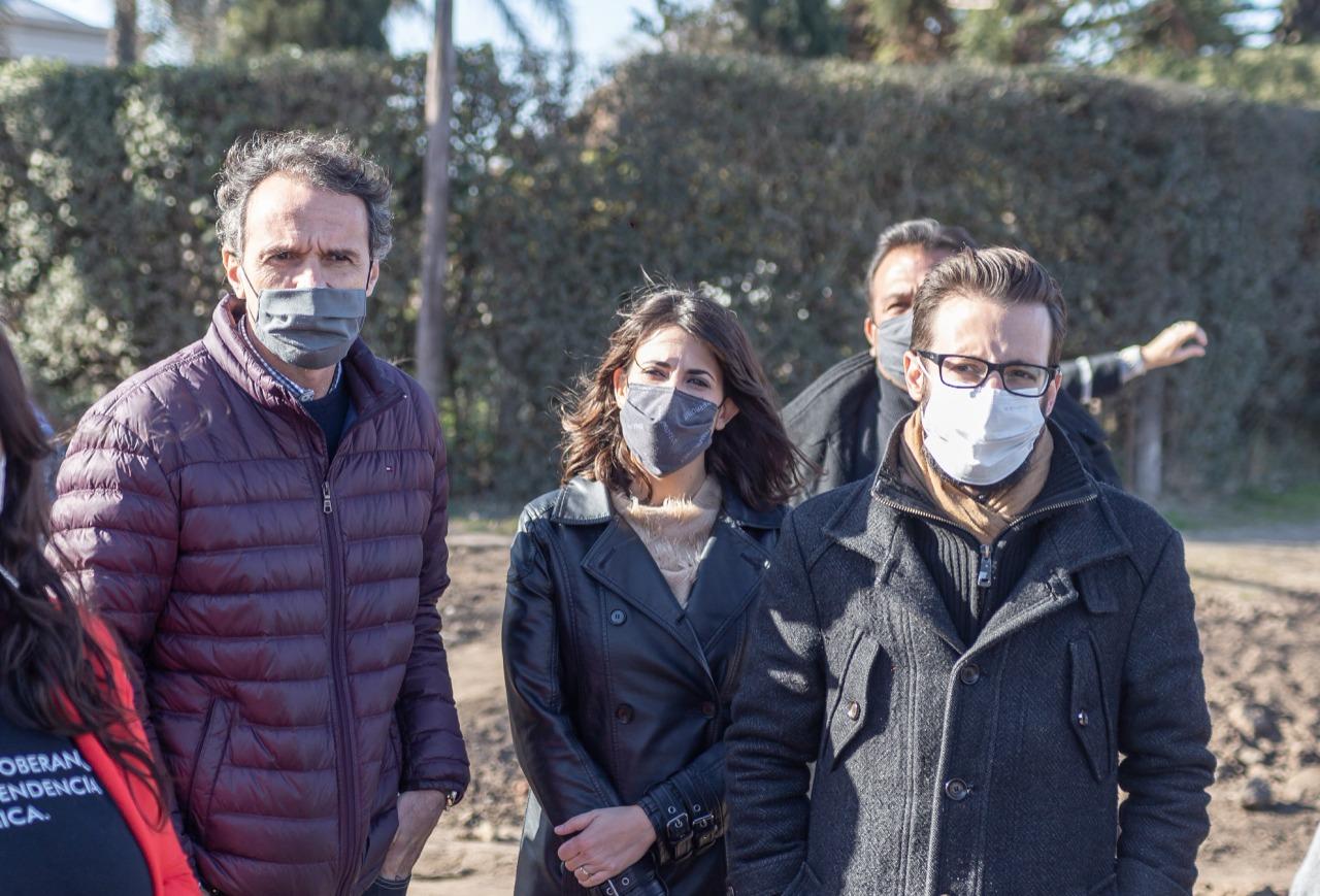 Constanza Alonso junto al Ministro Gabriel Katopodis, recorrieron obras públicas en Carlos Casares.