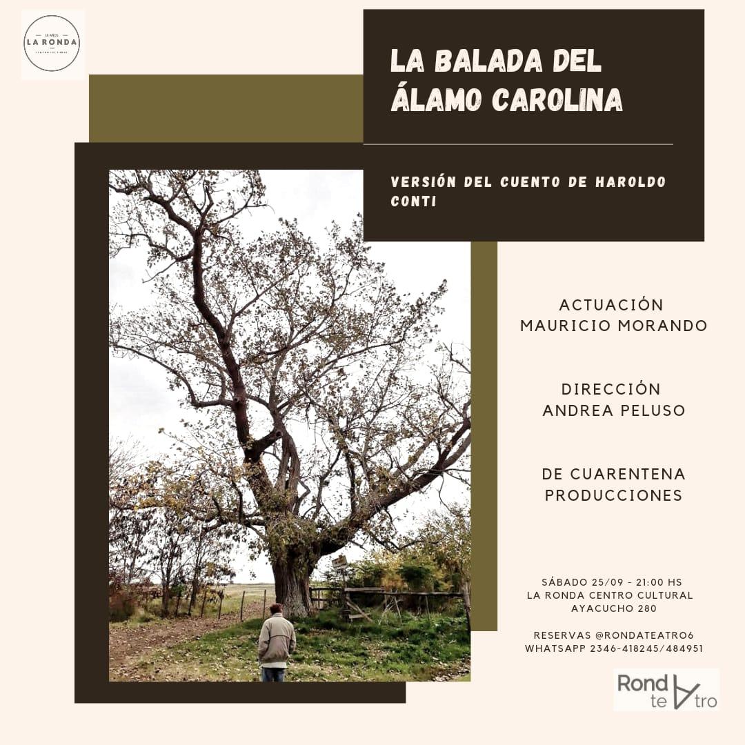 """[Este sábado]  """"La balada del Álamo Carolina"""" en Ronda Teatro"""