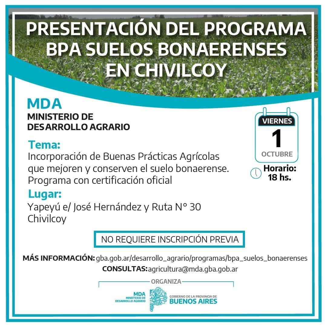 Se presenta el Programa BPA-Suelos Bonaerenses del Gobierno provincial y ETS en bovinos