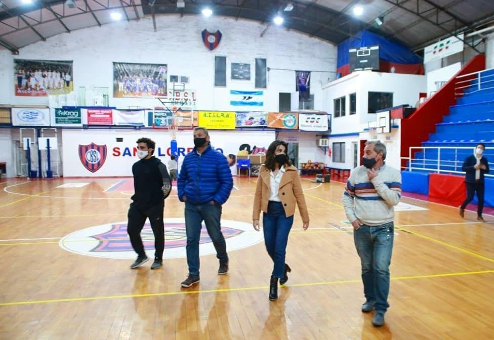 Coty Alonso visitó el Club San Lorenzo que recibió $600.000 del Gobierno Nacional para obras