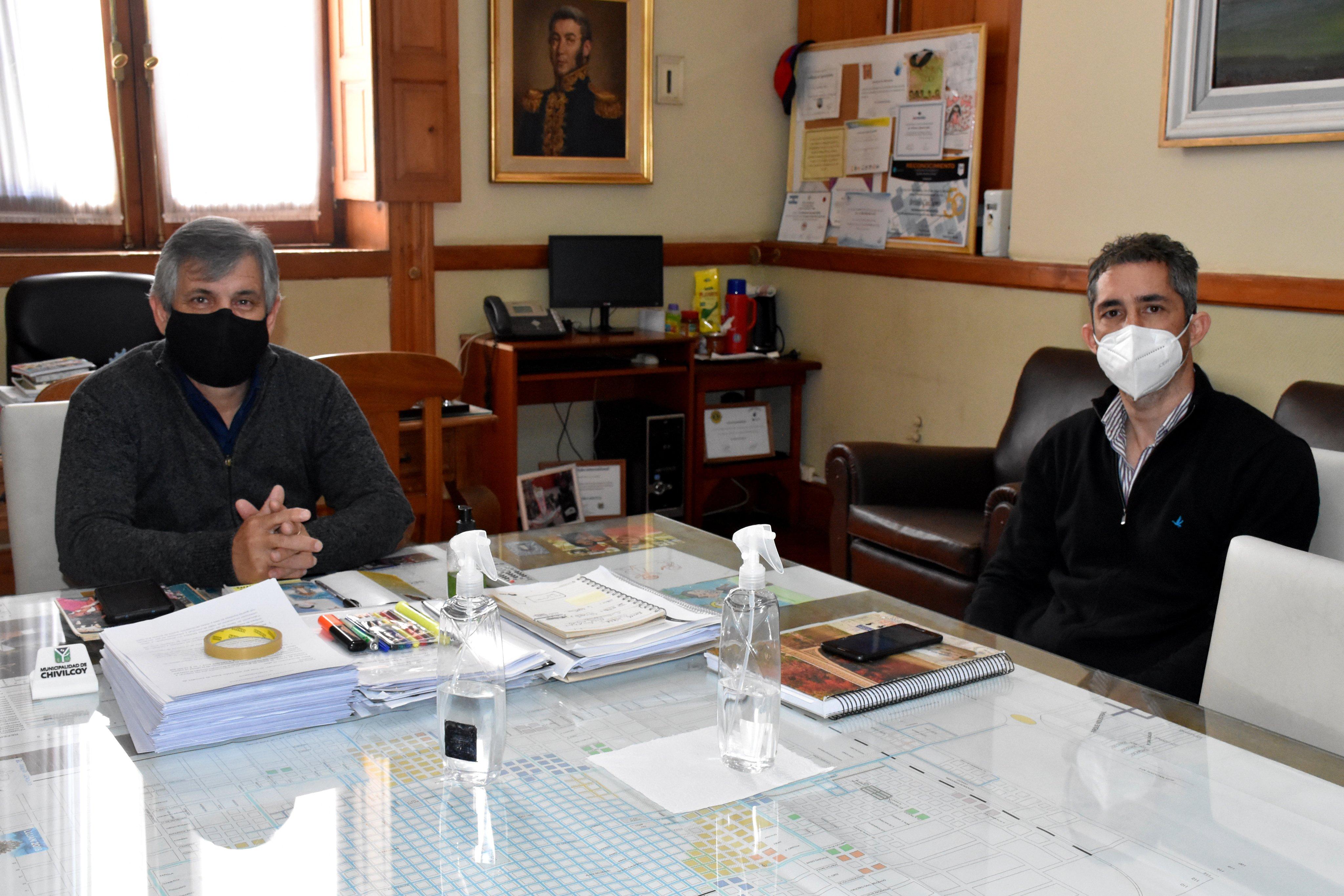 El intendente Britos se reunió con Juan Fancio delegado de la Defensoría del Pueblo